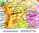 angola africa isolated focus... | Shutterstock . vector #1053015716