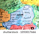 niger africa isolated focus... | Shutterstock . vector #1053017666