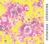 abstract floral pattern in... | Shutterstock .eps vector #1053031466
