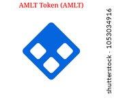 vector amlt token  amlt ... | Shutterstock .eps vector #1053034916