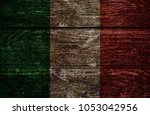 wood italy flag | Shutterstock . vector #1053042956