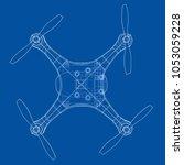 drone concept. vector rendering ...   Shutterstock .eps vector #1053059228