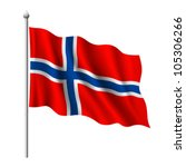 Flag Of Norway  Vector...