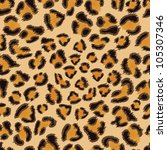 Leopard seamless background for your design. EPS 8 vector illustration.