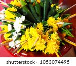 Sets Of Fresh Flower Sacrifices ...