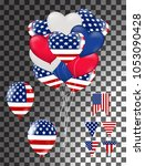 balloons flag usa independence... | Shutterstock .eps vector #1053090428
