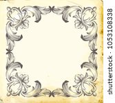 retro baroque decorations...   Shutterstock .eps vector #1053108338