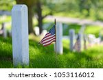 National flags ant headstones...