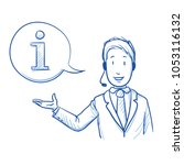 modern business man with a... | Shutterstock .eps vector #1053116132