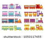 game gift kids train vector... | Shutterstock .eps vector #1053117455