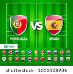 vector illustration football... | Shutterstock .eps vector #1053128936