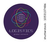 global logistics network. map... | Shutterstock .eps vector #1053137486