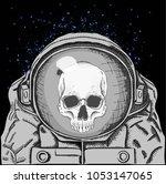 cosmonaut in space. vector...   Shutterstock .eps vector #1053147065