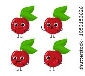 vector illustration flat cherry ...   Shutterstock .eps vector #1053153626