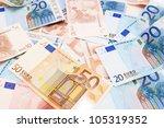 money . euro . . | Shutterstock . vector #105319352