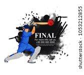 cricket championship   cricket   | Shutterstock .eps vector #1053212855
