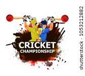 cricket championship   cricket   | Shutterstock .eps vector #1053212882
