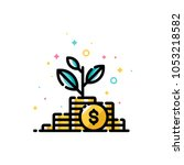 income increase and make more... | Shutterstock .eps vector #1053218582