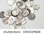 old romans coins isolated | Shutterstock . vector #1053229868