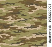 seamless camouflage pattern....   Shutterstock .eps vector #1053237005