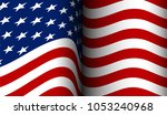 american flag flowing in the... | Shutterstock . vector #1053240968
