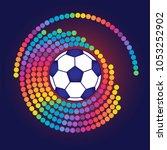 soccer ball on colorful...   Shutterstock .eps vector #1053252902