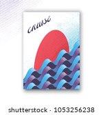 abstract modern vector vertical ... | Shutterstock .eps vector #1053256238