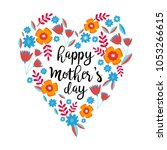 happy mother's day greeting... | Shutterstock .eps vector #1053266615