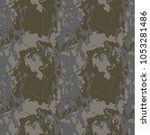 seamless fashion dusty green...   Shutterstock .eps vector #1053281486