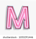 bright neon font with... | Shutterstock . vector #1053291446