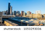 chicago south loop in the... | Shutterstock . vector #1053293036