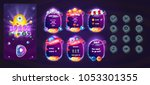 space cartoon game assets set... | Shutterstock .eps vector #1053301355