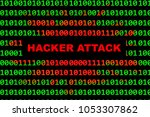 hacker attack and cyber crime... | Shutterstock . vector #1053307862