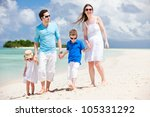 young beautiful family with two ... | Shutterstock . vector #105331292