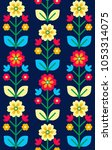 Folk Seamless Pattern ...