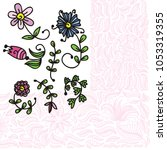 beautiful flowers. vector...   Shutterstock .eps vector #1053319355