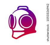 vector diving helmet logo | Shutterstock .eps vector #1053326942