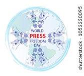 world press freedom day | Shutterstock .eps vector #1053330095