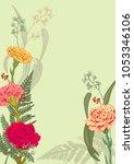 vertical frame  template for... | Shutterstock .eps vector #1053346106