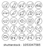 set of quality universal... | Shutterstock .eps vector #1053347585