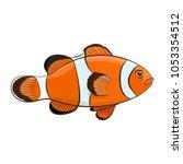 clown fish. vector illustration. | Shutterstock .eps vector #1053354512