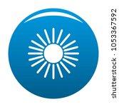 sun icon blue circle isolated...