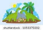 illustration of a family of... | Shutterstock .eps vector #1053370202