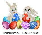 illustration of easter greeting ...   Shutterstock .eps vector #1053370955