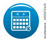 calendar mobile icon blue...