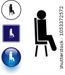 person sitting in a chair...   Shutterstock .eps vector #1053372572