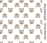 bear pattern seamless pattern... | Shutterstock .eps vector #1053400706