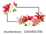 rose and lily wedding invittion.... | Shutterstock .eps vector #1053401708