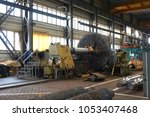 very large lathe. processing of ... | Shutterstock . vector #1053407468
