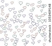 hand drawn hearts. background.  ... | Shutterstock .eps vector #1053409148